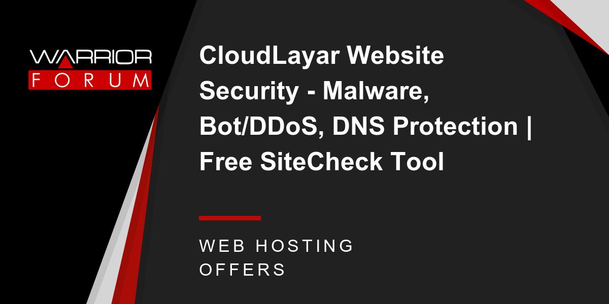 CloudLayar Website Security - Malware, Bot/DDoS, DNS Protection