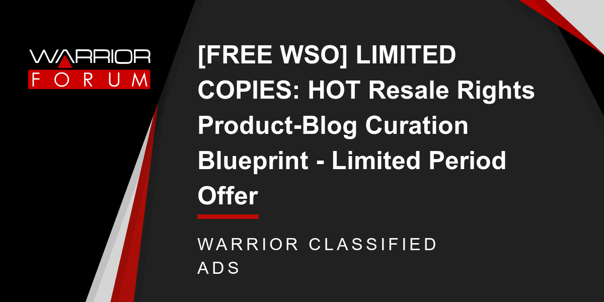 Free wso limited copies hot resale rights product blog curation free wso limited copies hot resale rights product blog curation blueprint limited period offer malvernweather Image collections