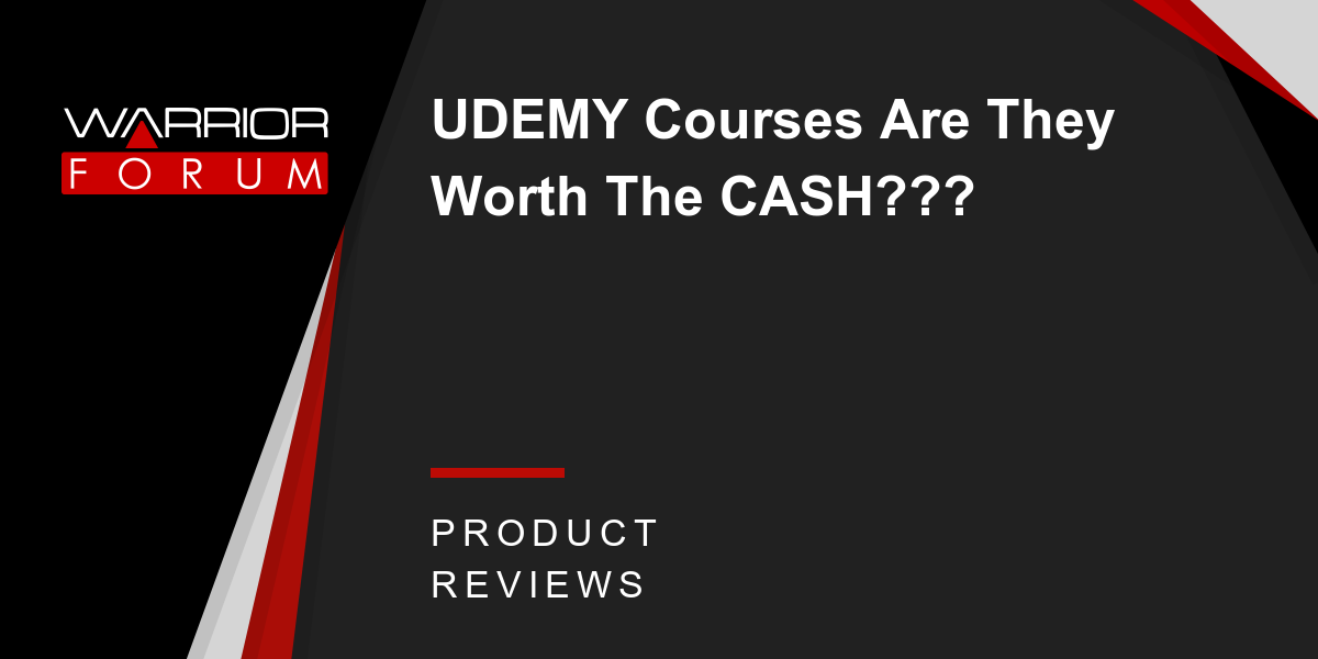 UDEMY Courses Are They Worth The CASH???   Warrior Forum