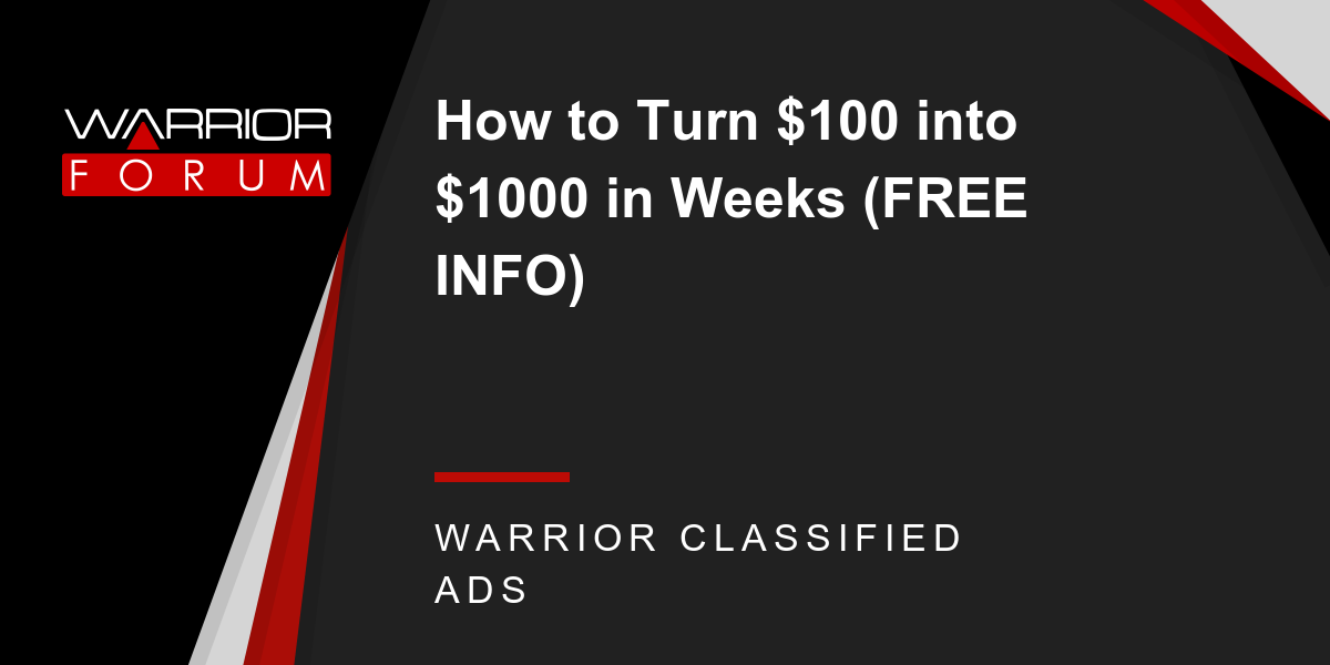 How to turn $100 into $1000 in forex