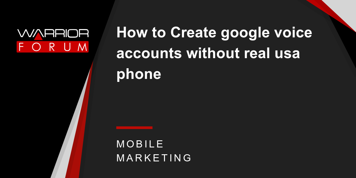 create account for google voice