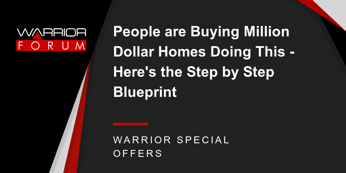 People are Buying Million Dollar Homes Doing This - Here's the Step by Step Blueprint Thumbnail