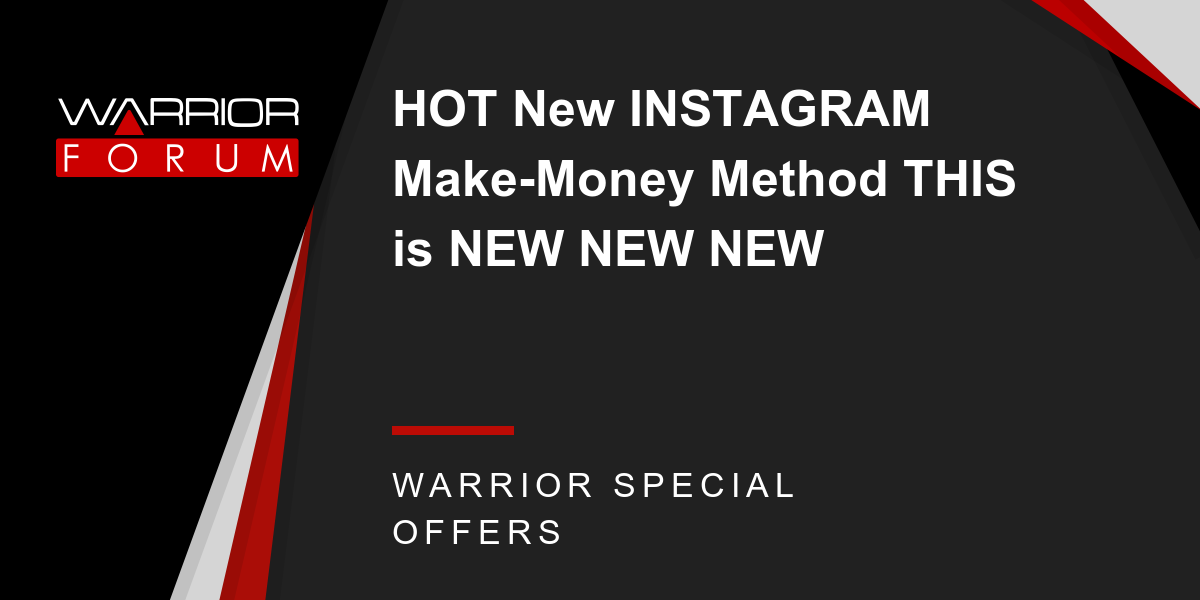 HOT New INSTAGRAM Make-Money Method THIS is NEW NEW NEW Thumbnail
