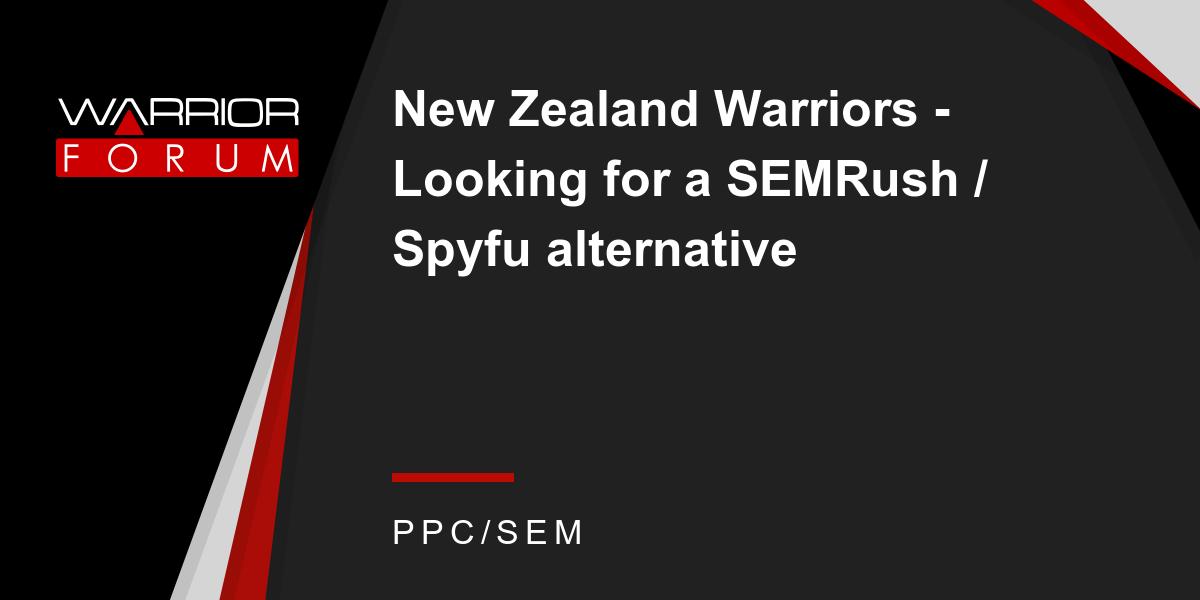New Zealand Warriors - Looking for a SEMRush / Spyfu