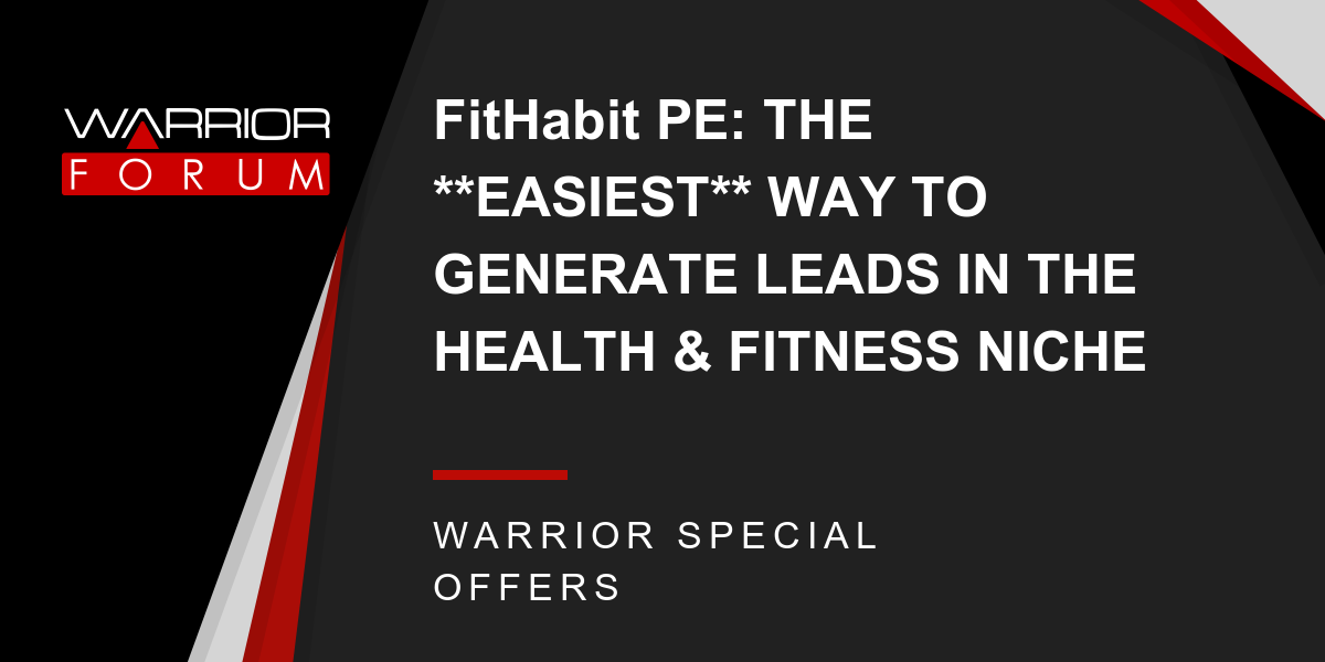 FitHabit PE: THE **EASIEST** WAY TO GENERATE LEADS IN THE HEALTH & FITNESS NICHE Thumbnail