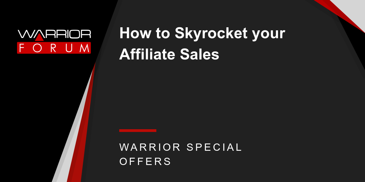 How to Skyrocket your Affiliate Sales Thumbnail