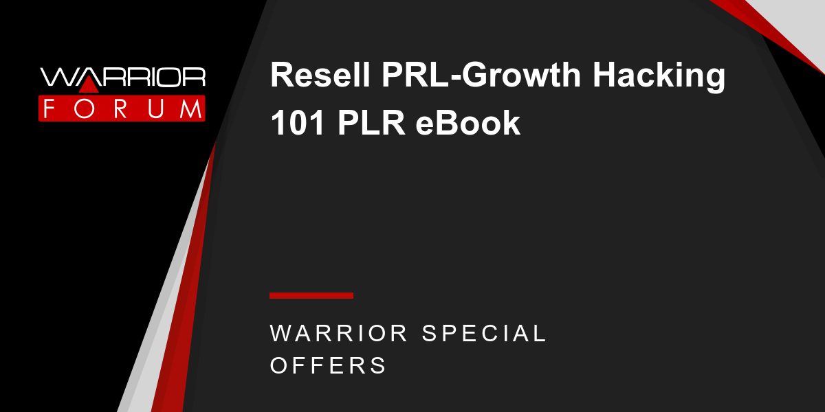 Resell PRL-Growth Hacking 101 PLR eBook Thumbnail