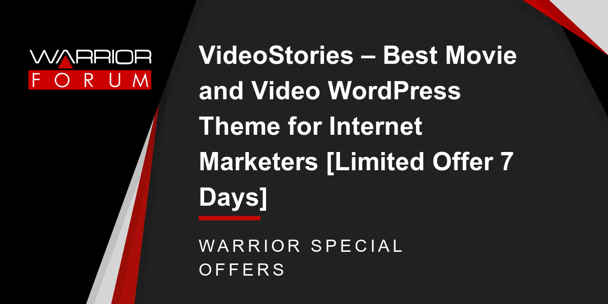 VideoStories - Best Movie and Video WordPress Theme for Internet Marketers [Limited Offer 7 Days] Thumbnail