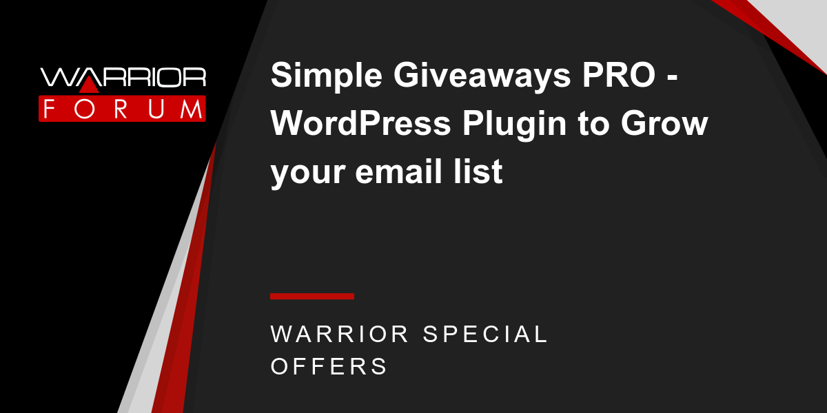 Simple Giveaways PRO - WordPress Plugin to Grow your email list Thumbnail