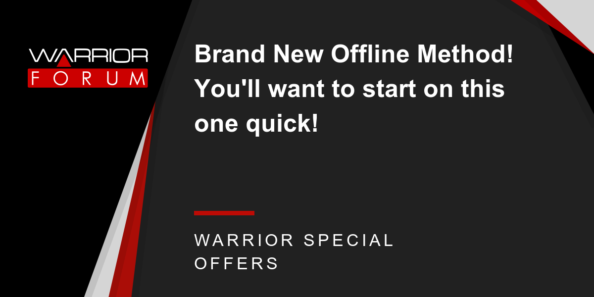 Brand New Offline Method! You'll want to start on this one quick! Thumbnail