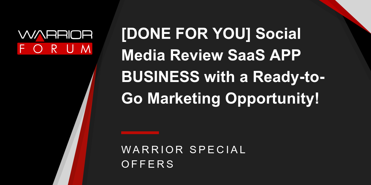 [DONE FOR YOU] Social Media Review SaaS APP BUSINESS with a Ready-to-Go Marketing Opportunity! Thumbnail