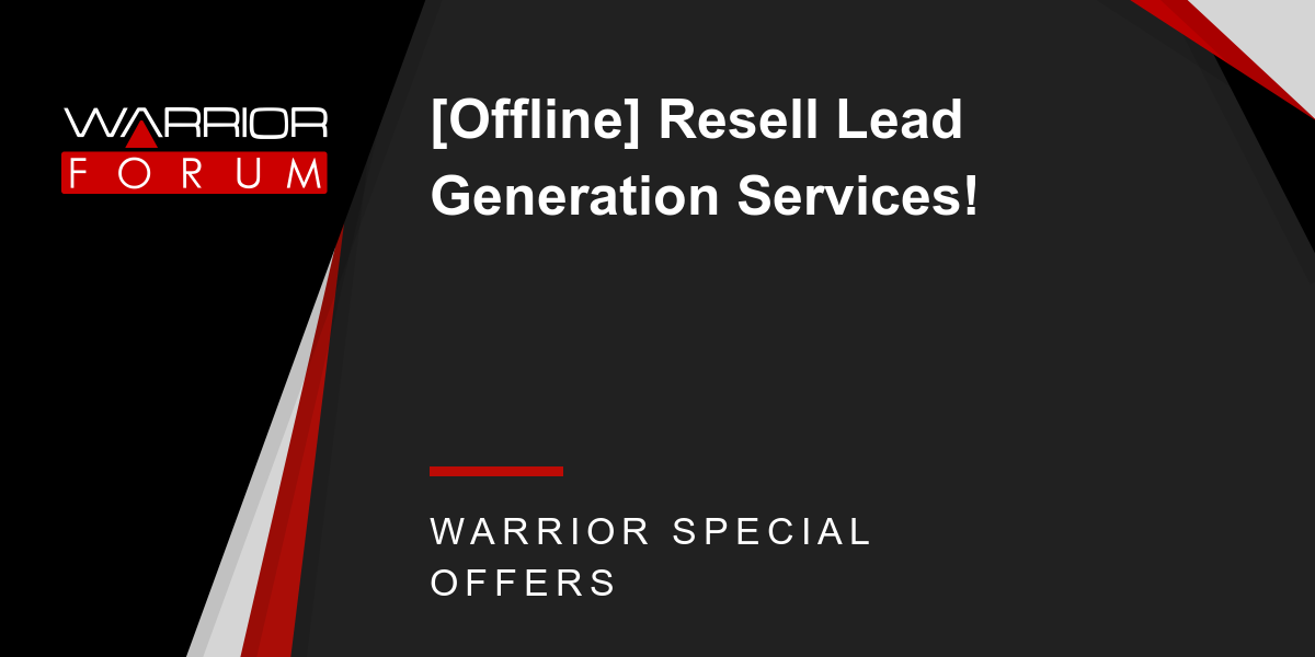[Offline] Resell Lead Generation Services! Thumbnail