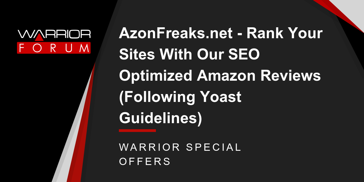 AzonFreaks.net - Rank Your Sites With Our SEO Optimized Amazon Reviews (Following Yoast Guidelines) Thumbnail