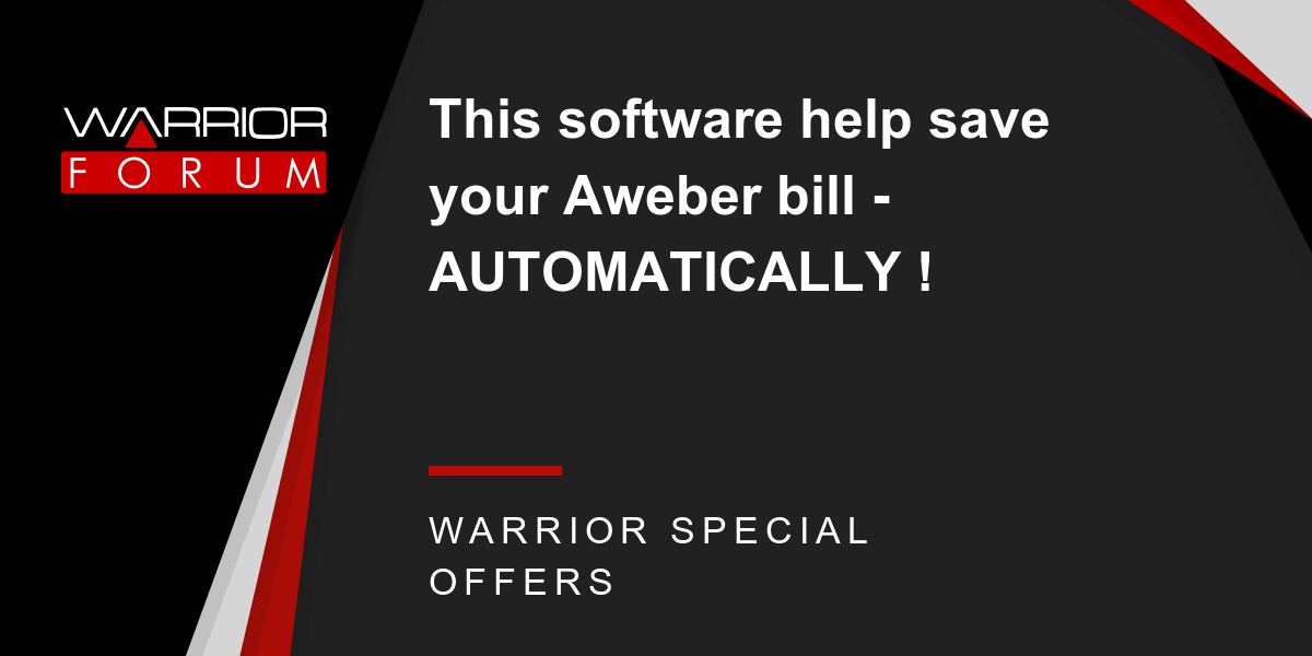This software help save your Aweber bill - AUTOMATICALLY ! Thumbnail