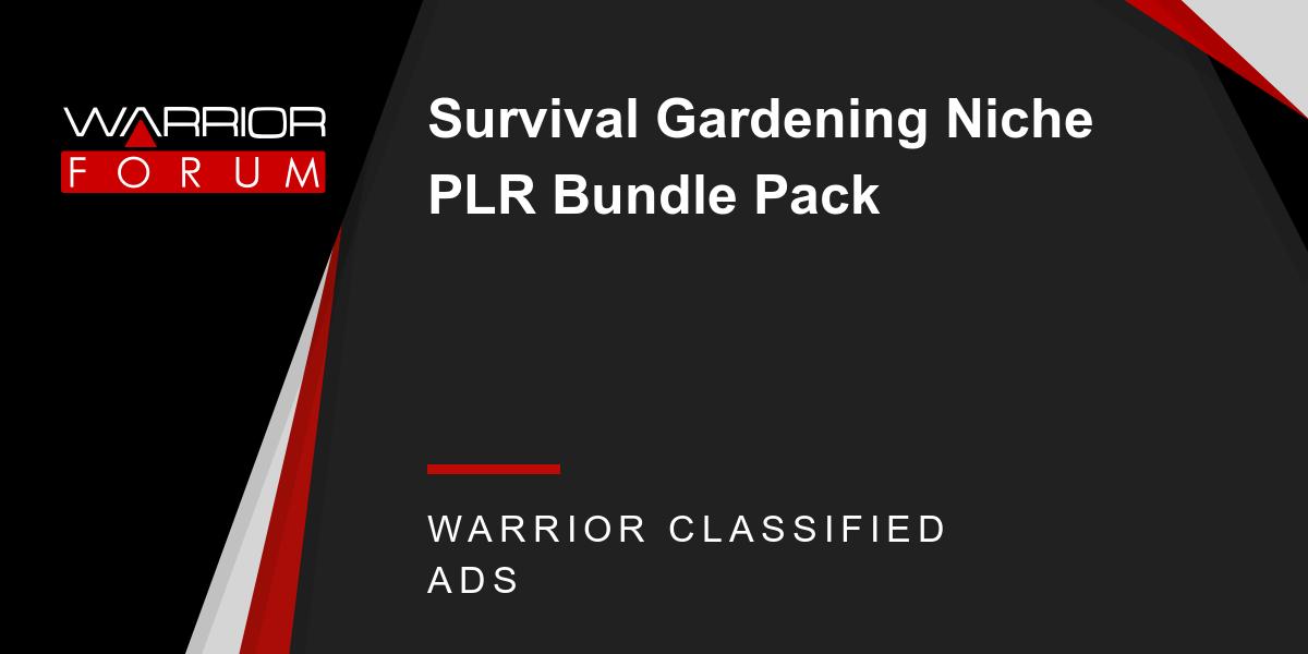 Survival Gardening Niche PLR Bundle Pack Thumbnail