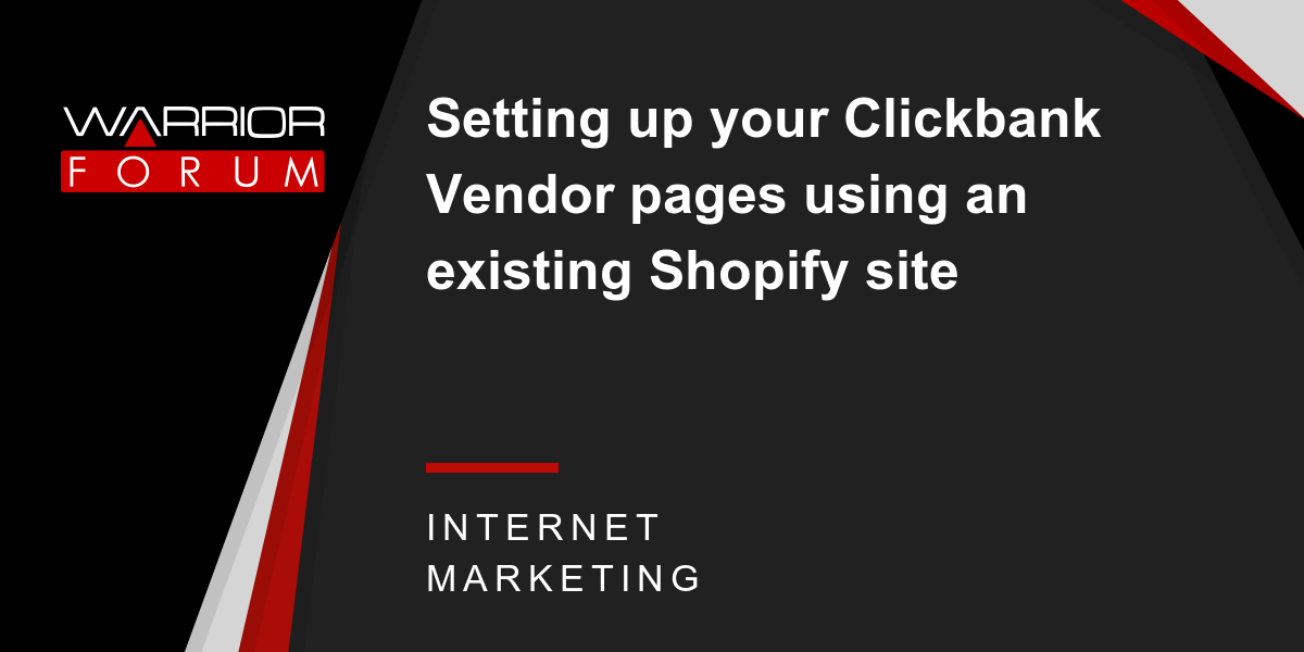 Setting up your Clickbank Vendor pages using an existing