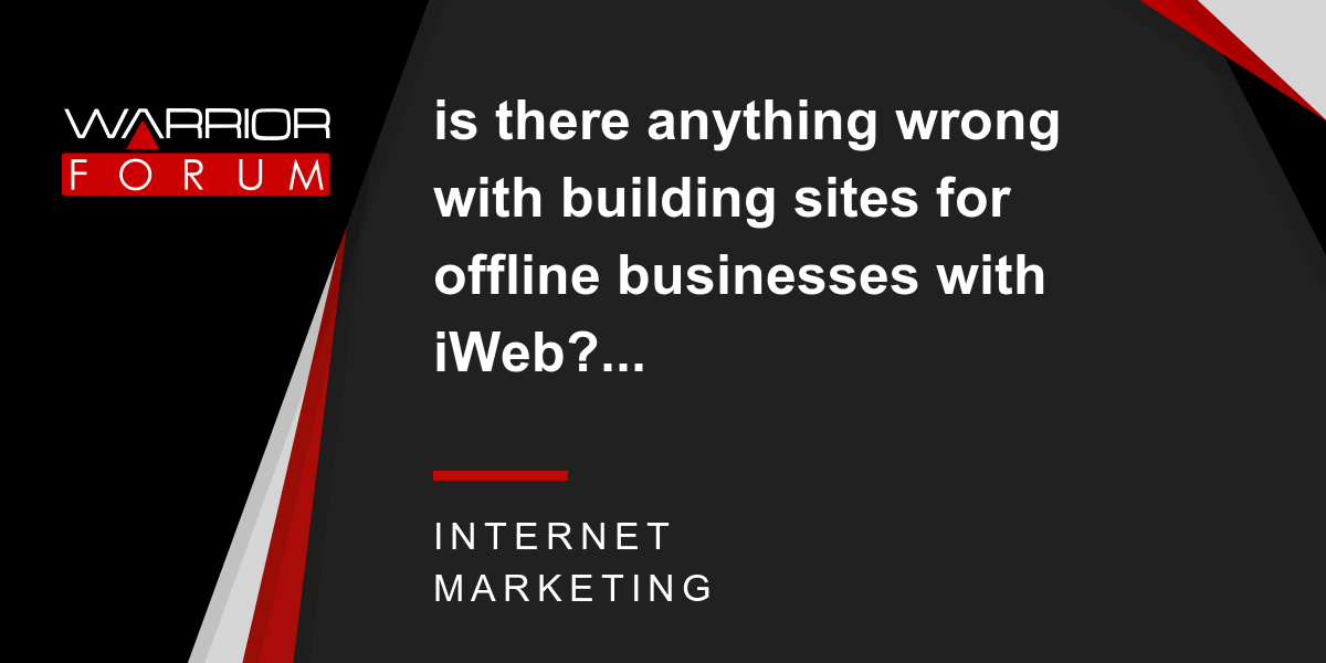 is there anything wrong with building sites for offline