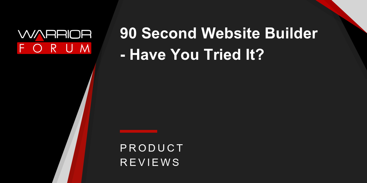 90 Second Website Builder - Have You Tried It? | Warrior