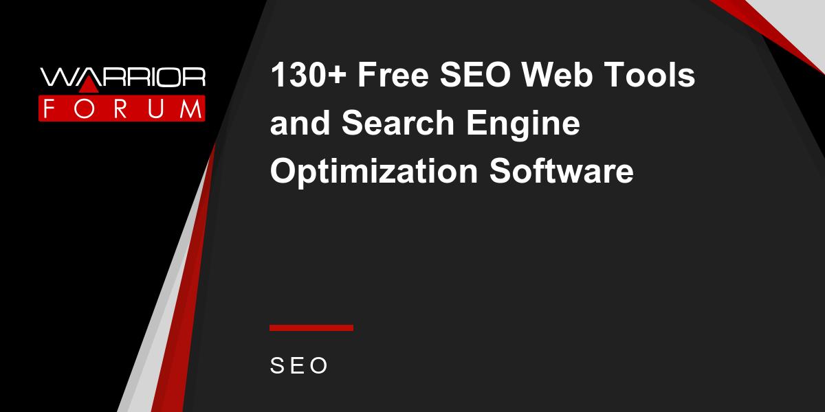 free search engine optimization software