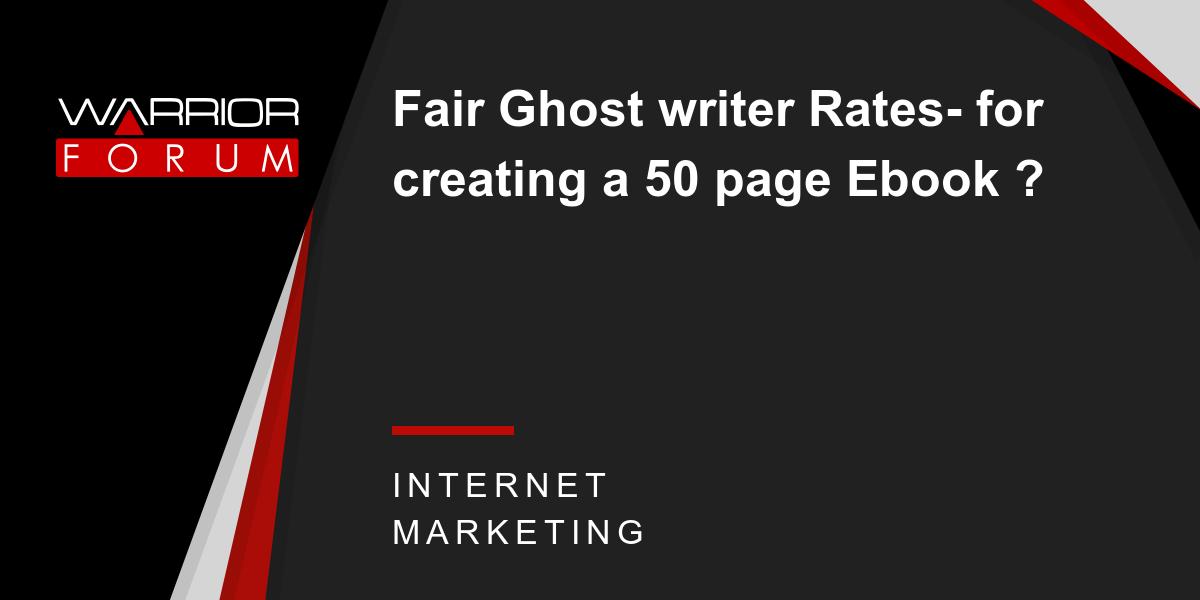 Ebook ghostwriter