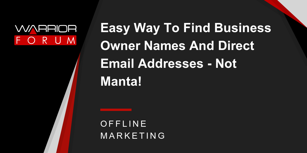 Easy Way To Find Business Owner Names And Direct Email