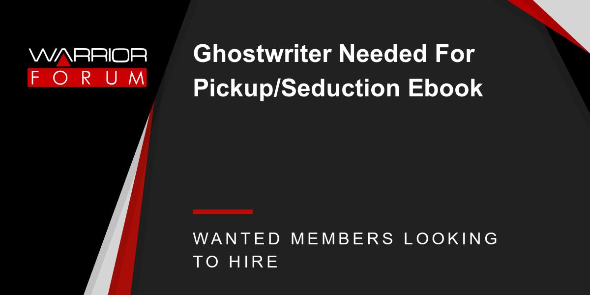 ghostwriter needed