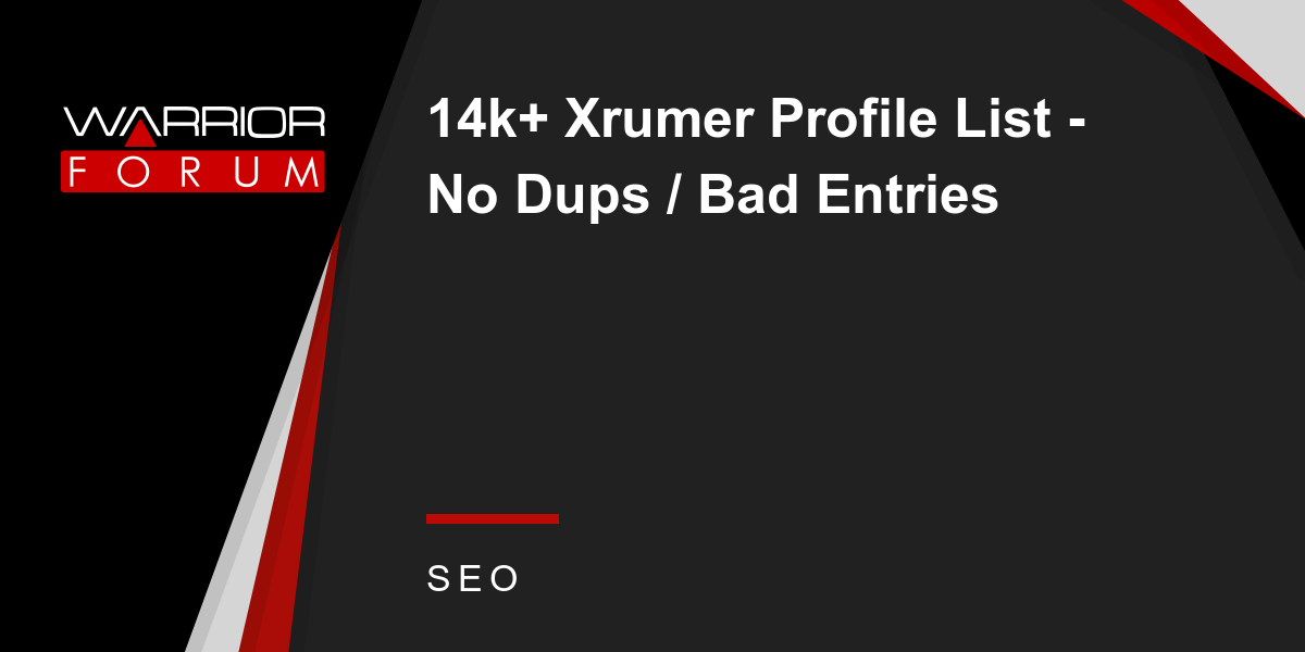 Xrumer профили universe of web продвижение сайта в туле