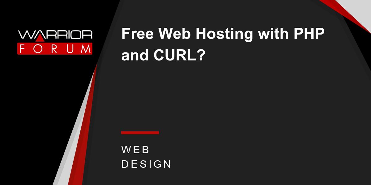 Бесплатный хостинг с php и curl хостинг качественный не дорогой