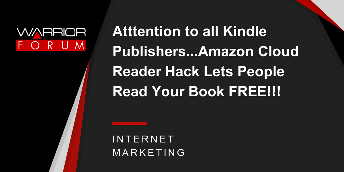 Atttention to all Kindle Publishers   Amazon Cloud Reader