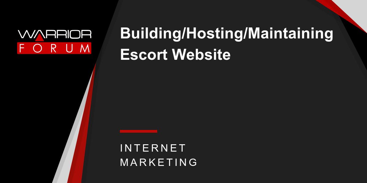 Escort web site hosting