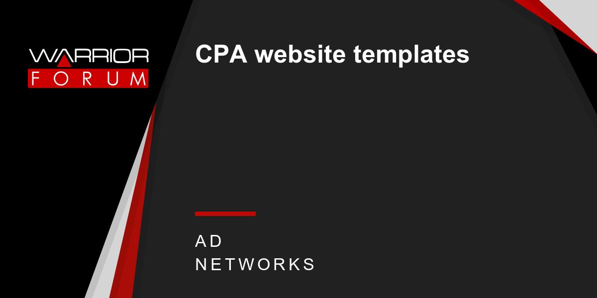 cpa website templates warrior forum the 1 digital marketing