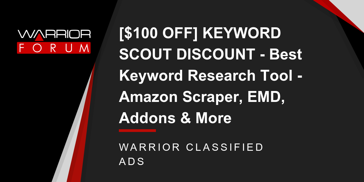 100 OFF] KEYWORD SCOUT DISCOUNT - Best Keyword Research Tool