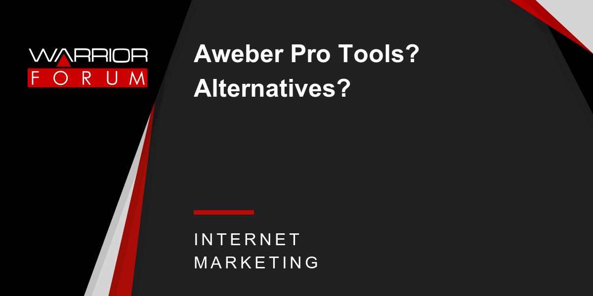 Some Known Facts About Aweber Pro Tools.