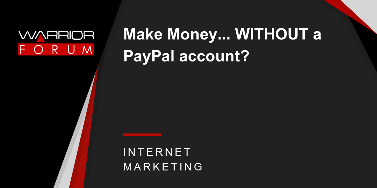 Money paypal account without CashRevenue —