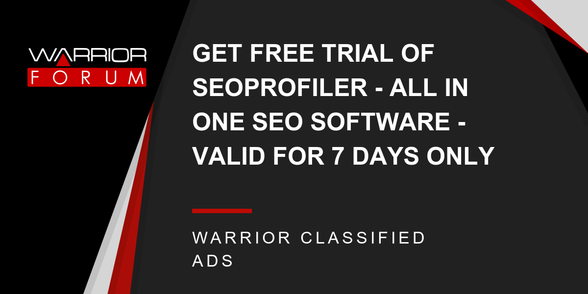 SEOprofiler Free Plan: Start 30-Day SEOprofiler Free Trial Now 2021
