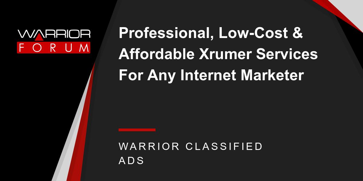 Xrumer cost зачем надо арендовать сервер для сайта