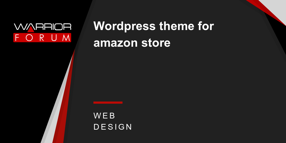 Wordpress theme for amazon store | Warrior Forum - The #1 Digital ...