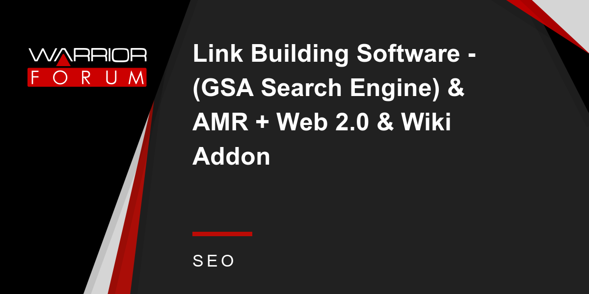 Link Building Software - (GSA Search Engine) \u0026 AMR + Web 2 ...