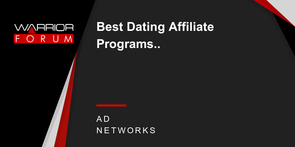 affiliate program for dating sites