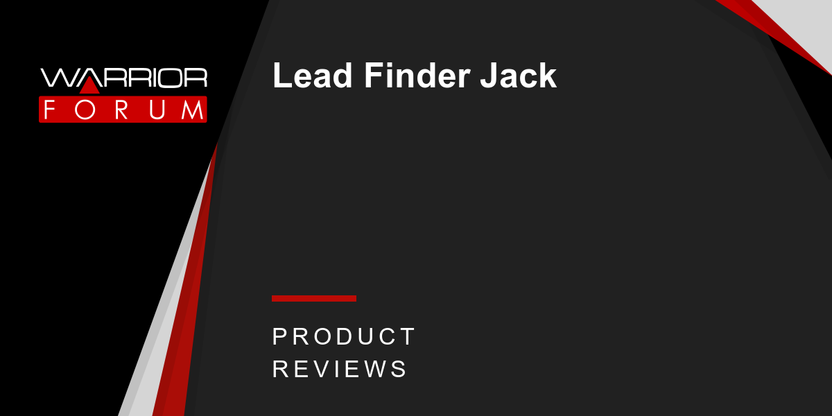 Lead Finder Jack Warrior Forum The 1 Digital Marketing Forum