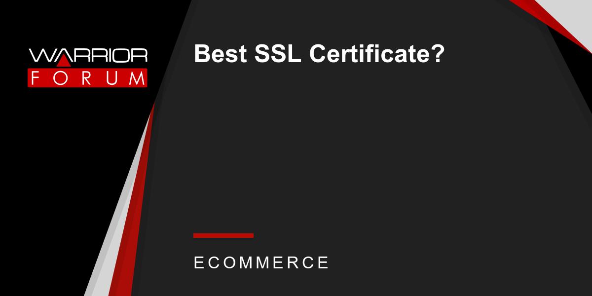Best Ssl Certificate Warrior Forum The 1 Digital Marketing