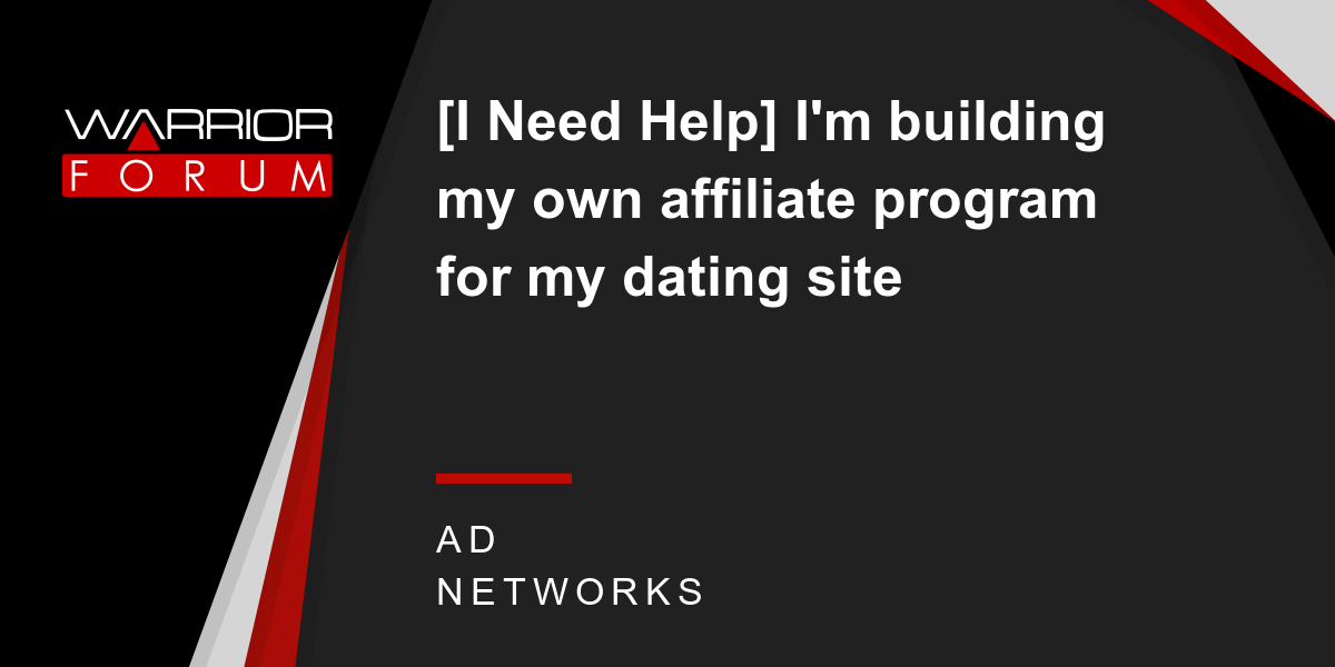 Affiliate programma dating site