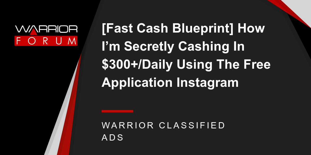 Fast cash blueprint how im secretly cashing in 300daily using fast cash blueprint how im secretly cashing in 300daily using the free application instagram malvernweather Gallery