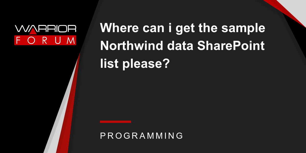 Where can i get the sample Northwind data SharePoint list