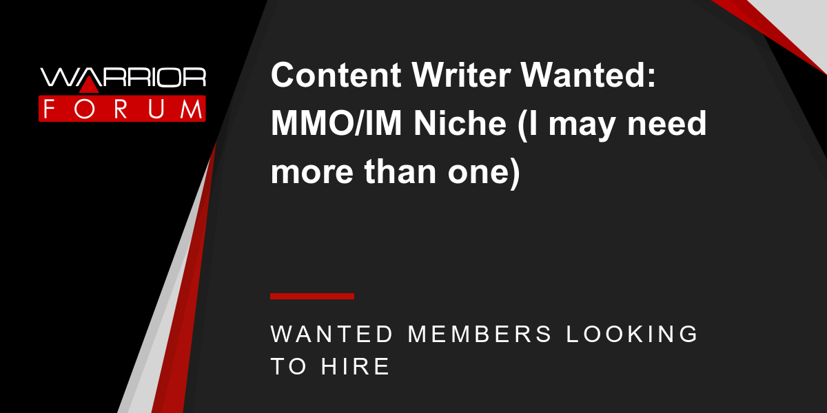 writer wanted